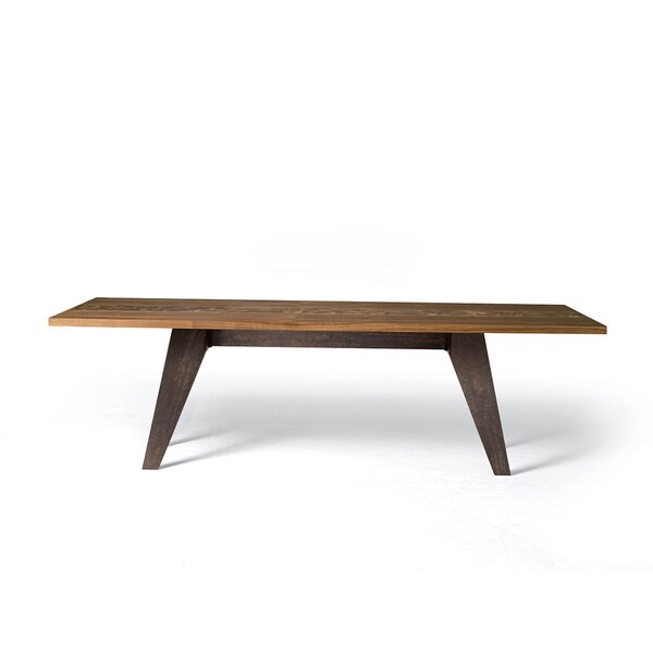 Benjamin Fixed Oblique Metal Legs Dining Table by YumanMod