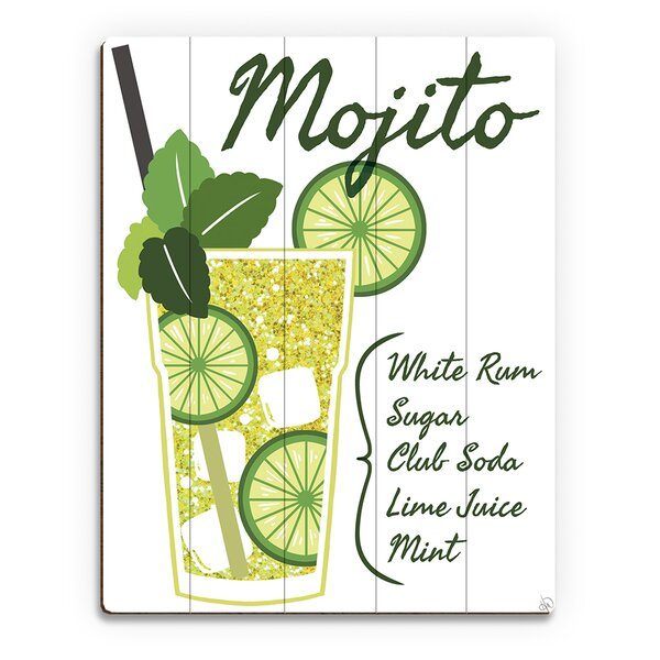 Wood Slats Mojito Graphic Art on Plaque by Click Wall Art