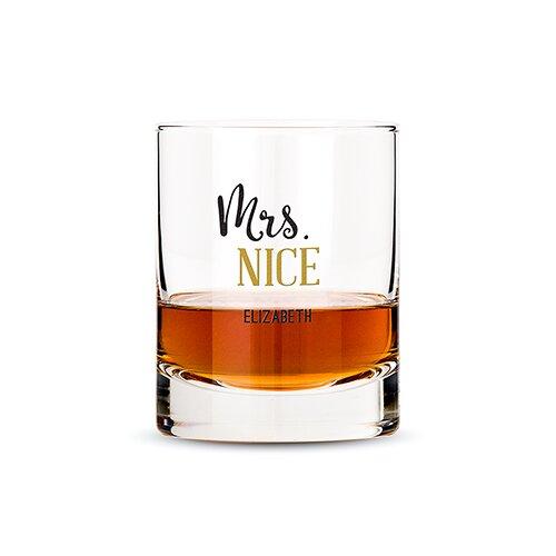 Personalize Mrs. Nice  11 oz. Whiskey Glasses by Weddingstar