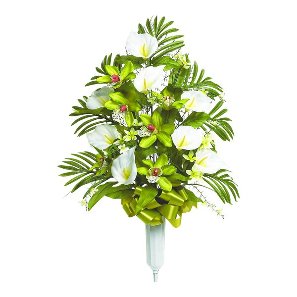 Mixed Orchid Floral Vase Arrangement by Bay Isle Home