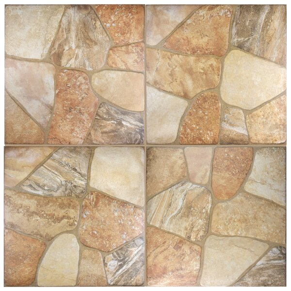 Marseille 17.75 x 17.75 Ceramic Field Tile in Beige by EliteTile
