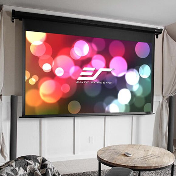VMax Dual White Electric Projection Screen By Elite Screens