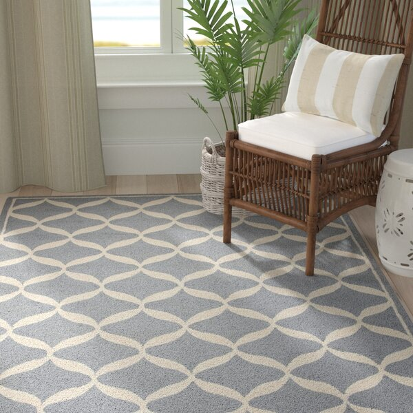 Sidonie Hand-Tufted Slate/White Area Rug by Highland Dunes