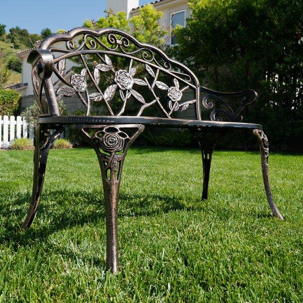 Larue Rose Iron Garden Bench By Lark Manor
