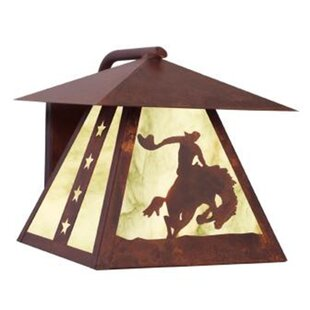 Bargain 8 Seconds 1-Light Outdoor Wall Lantern By Steel Partners