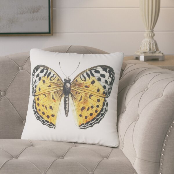 Benefield Butterfly Throw Pillow by August Grove