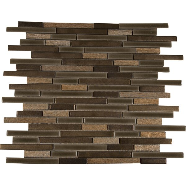 Triton Interlocking Pattern Porcelain/Stone Mosaic Tile in Brown by MSI