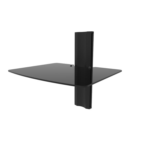 Wall Mounted AV Glass Shelf by Kanto
