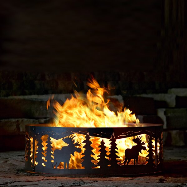 Moose Steel Wood Burning Fire ring by P & D Metal Works