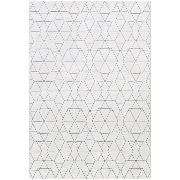 Cuthbert Modern White/Light Gray Area Rug by Brayden Studio