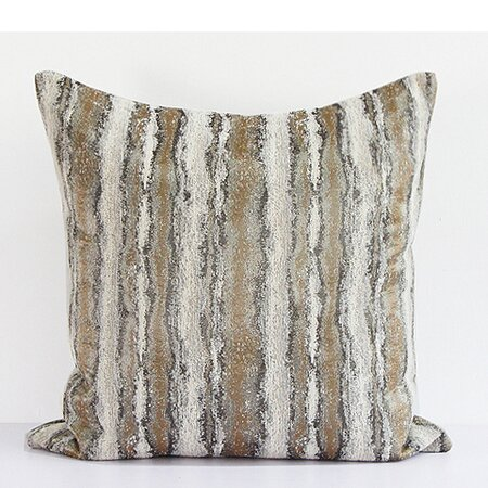 Luxury Stripe Pattern Metallic Chenille Pillow Cover by G Home Collection