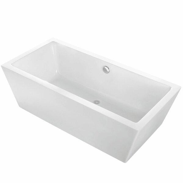 Alsen 60 x 31 Freestanding Soaking Bathtub by Maykke
