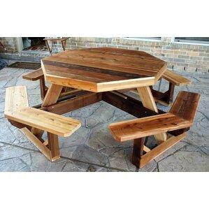 Western Cedar Octagon Picnic Table