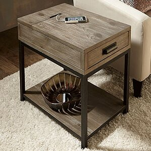Winooski Wood End Table by Union Rustic