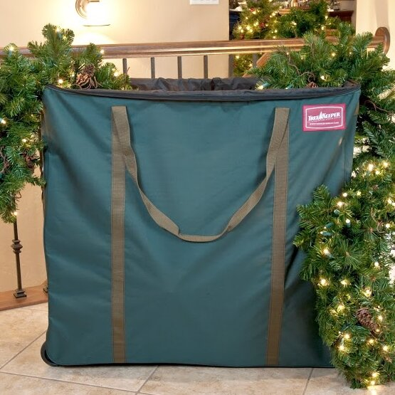 Premium Christmas Village and Decor Multi-Use Rolling Storage Bag by TreeKeeper