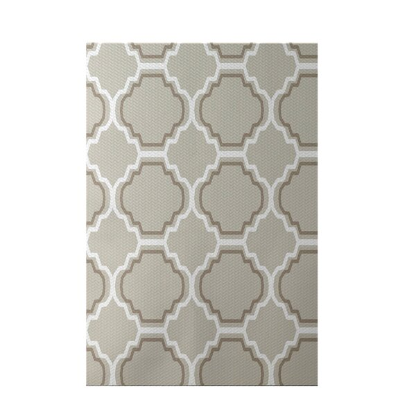 Road to Morocco Geometric Print Latte Indoor/Outdoor Area Rug by e by design