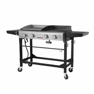 4 Burner Liquid Propane Gas Grill With Griddle