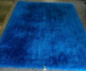 Shaggy Hand Tufted Blue Area Rug by Rug Factory Plus