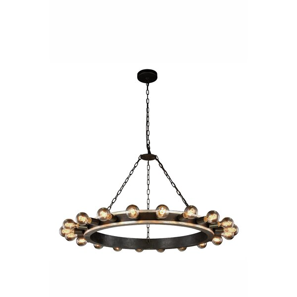 Fanetta 20 - Light Candle Style Wagon Wheel Chandelier by 17 Stories 17 Stories