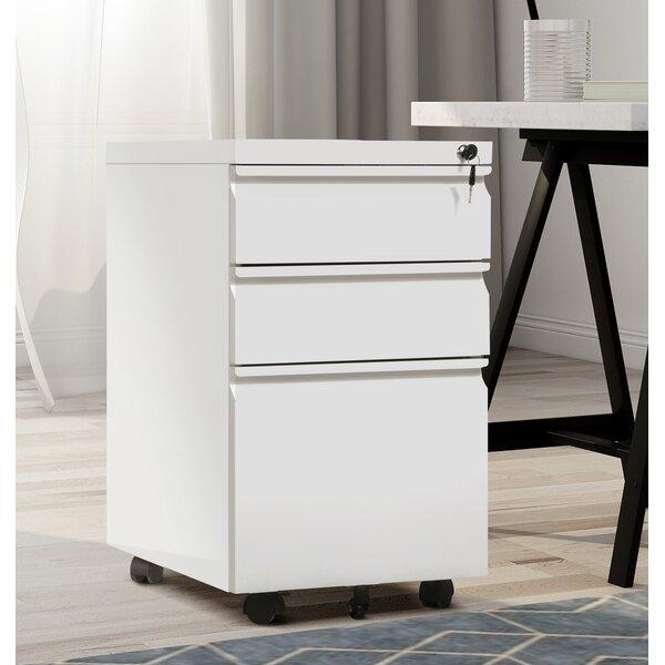 Bradner 3 Drawer Vertical Filing Cabinet