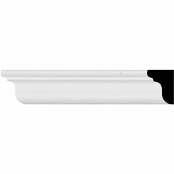 Classic Smooth 0 5/8H x 96 1/8W x 1/2D Crown Molding by Ekena Millwork