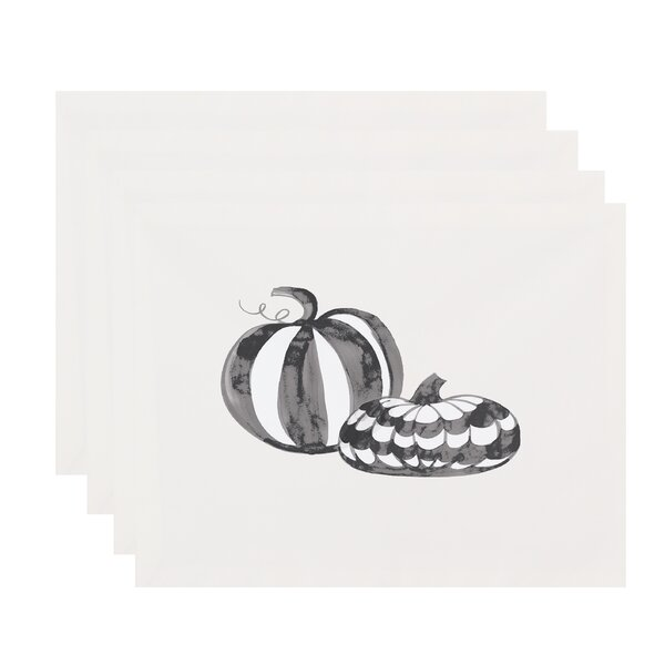 Maser Pumpkin Duo Halloween 18 Placemat (Set of 4) by The Holiday Aisle