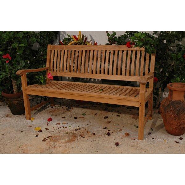 Del-Amo Teak Garden Bench by Anderson Teak