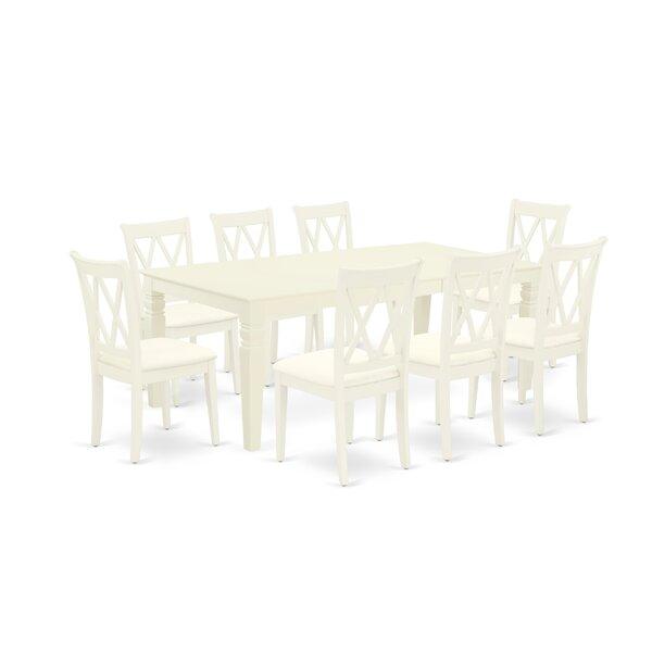 Junita 9 Piece Extendable Solid Wood Dining Set by Winston Porter Winston Porter