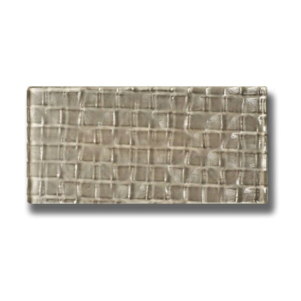 Metro 3 x 6 Glass Subway Tile in Olive by Abolos