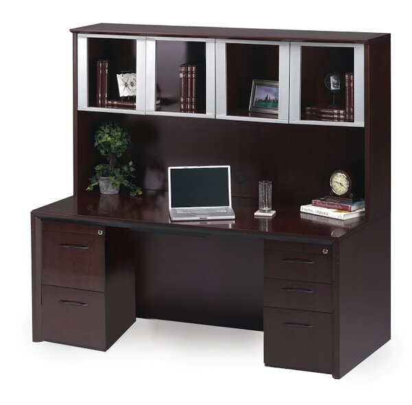 Corsica Series Executive Desk with Hutch by Mayline Group