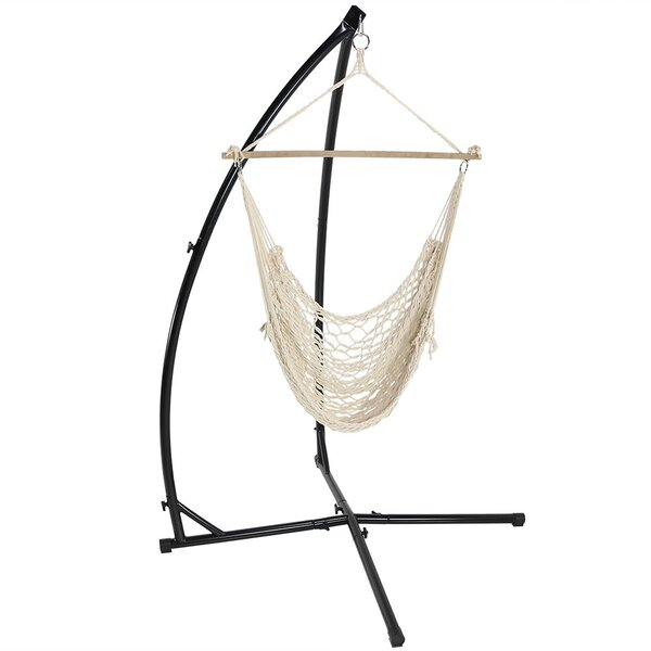 Caudle Cotton Chair Hammock with Stand by Longshore Tides