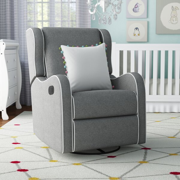 Rowe Upholstered Manual Glider Recliner By Viv + Rae