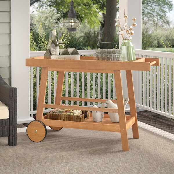 Hugo Indoor/Outdoor Bar Serving Cart by Laurel Foundry Modern Farmhouse