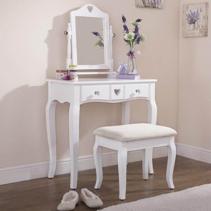 sommerallee schminktisch set veras mit spiegel bewertungen. Black Bedroom Furniture Sets. Home Design Ideas