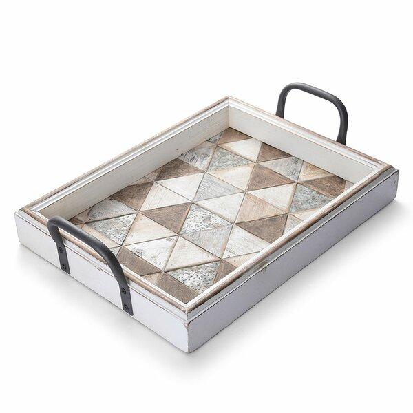 Belchertown Triangles MDF Wooden Ottoman Tray by Foundry Select