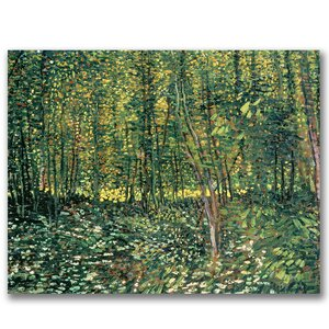 'Trees and Undergrowth,  1887' by Vincent Van Gogh Painting Print on Wrapped Canvas by Trademark Fine Art
