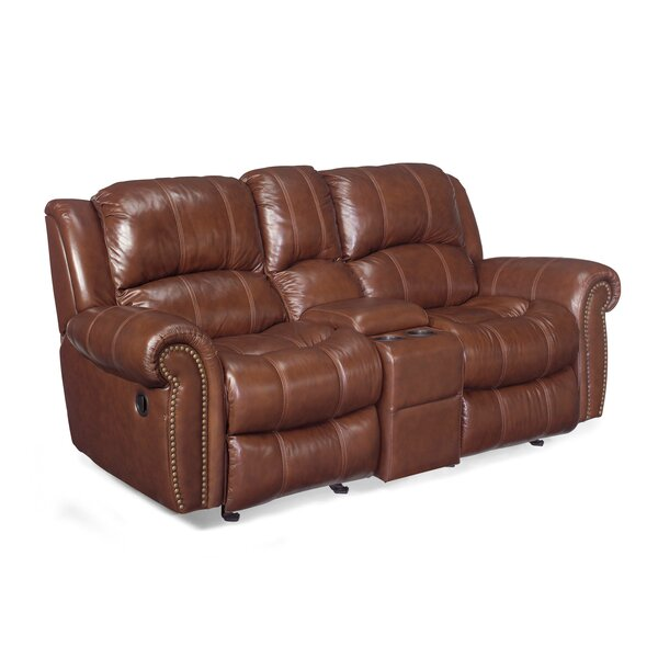 Entertainment 2 Glider Leather Reclining Sofa by Hooker Furniture