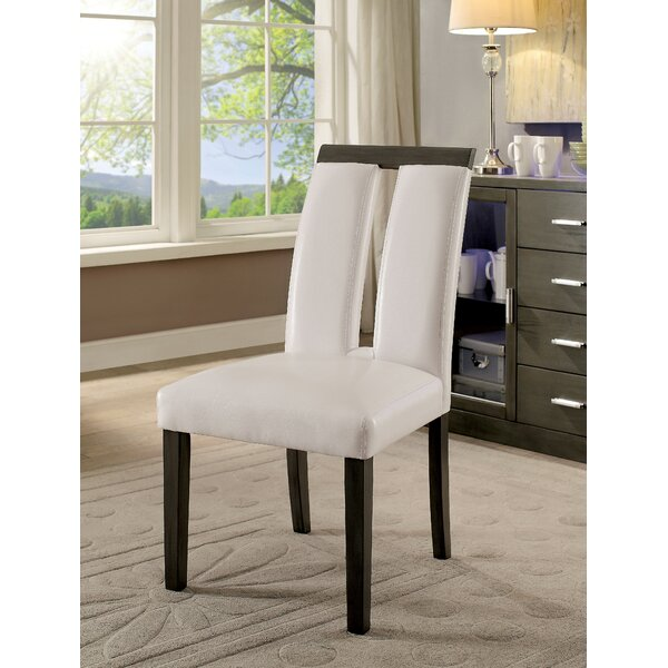 Travis Upholstered Dining Chair In White (Set Of 2) By Latitude Run
