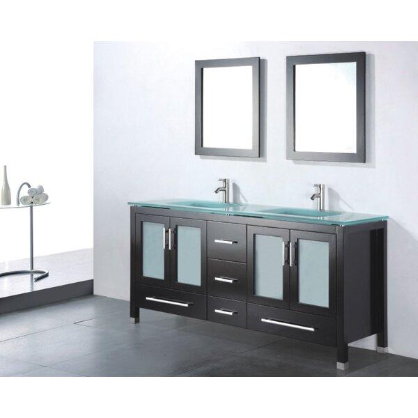 Amara 60 Double Bathroom Vanity Set with Mirror by Adornus