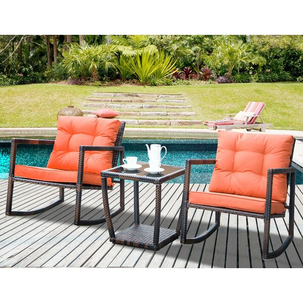 Rohit 3 Piece Rattan Seating Group with Cushions by Brayden Studio