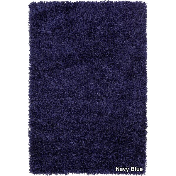 Vinoe Shag Blue Area Rug by Latitude Run