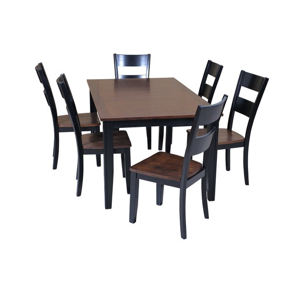 Haan Modern 7 Piece Solid Wood Dining Set by Red Barrel Studio