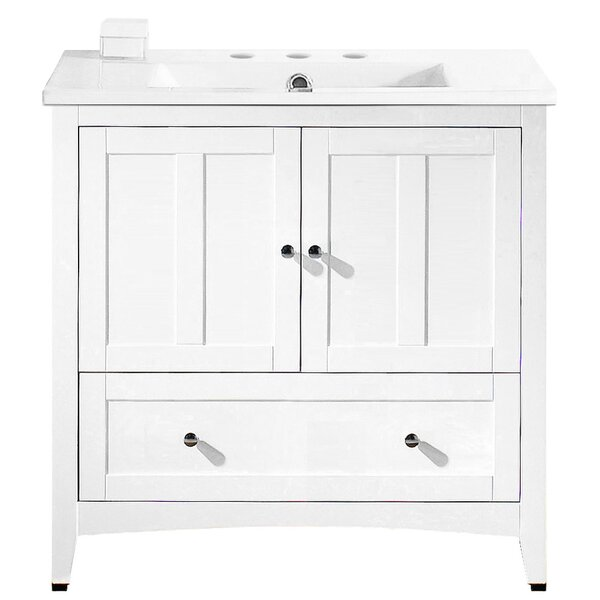 Artic Modern 36 Plywood-veneer Single Bathroom Vanity Set by Longshore Tides