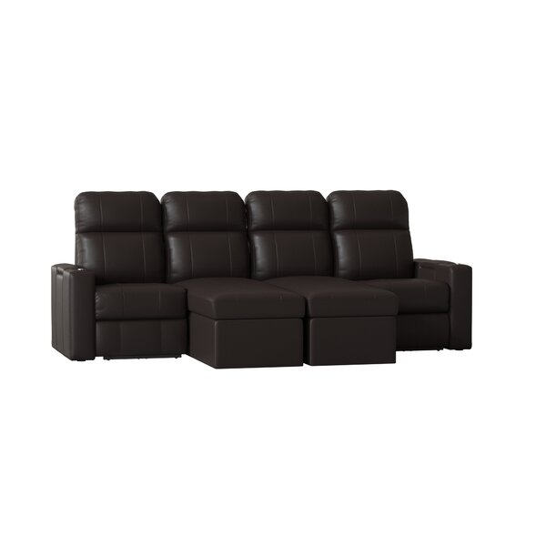 Power Recline Leather Home Theater Configurable Seating By Red Barrel Studio