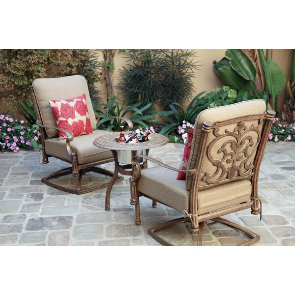 Palazzo Sasso 3 Piece Conversation Set with Cushions by Astoria Grand