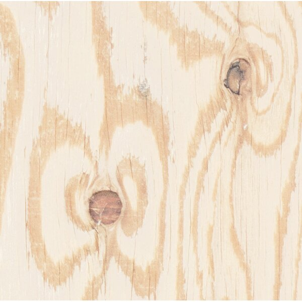 Antioch Plywood Mural Solid 4-Panel Peel and Stick Wallpaper Panel by Foundry Select