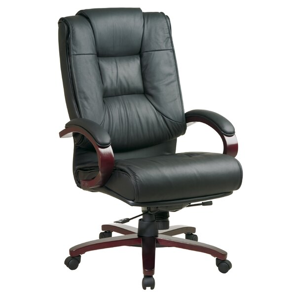 Pro-Line II Series High-Back Leather Executive Chair by Office Star Products