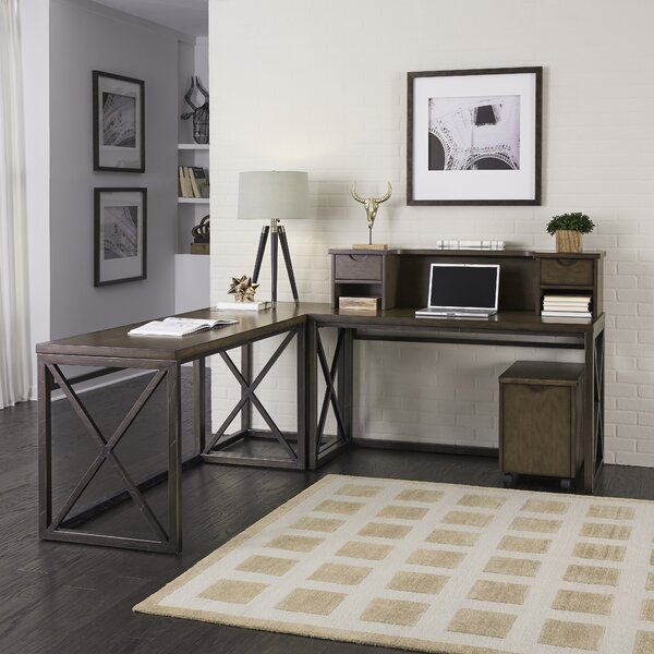 Witham 3 Piece L-Shaped Desk Office Suite by Williston Forge