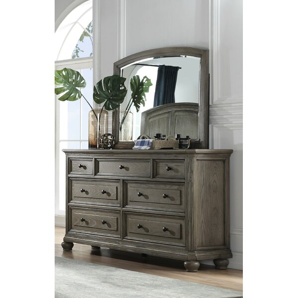 Gil 7 Drawer Dresser with Mirror by Canora Grey