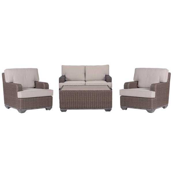Simge 4 Piece Sofa Seating Group with Cushions by Latitude Run